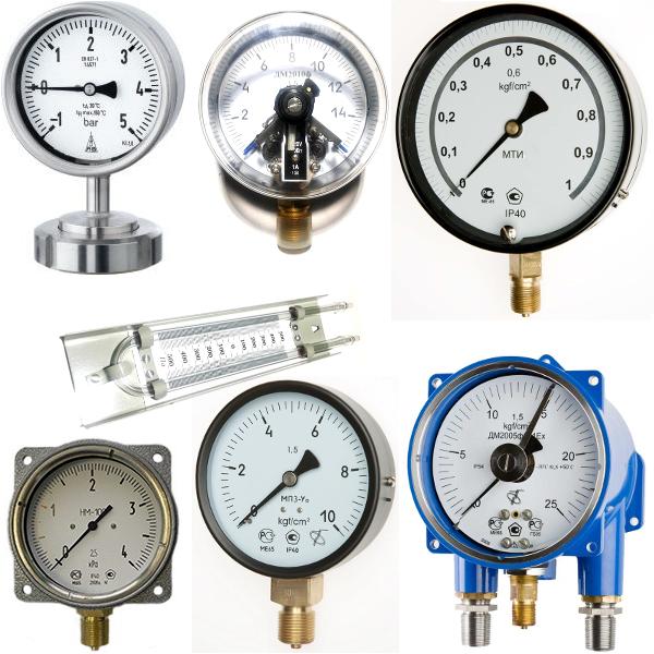 Манометры, напоромеры и термоманометры