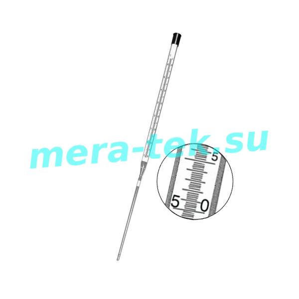 -7А №2 (0...+75)°С Термометр ртутный стеклянный для бактериалогических термостатов