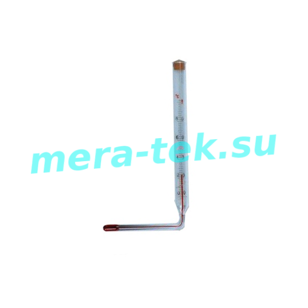 """-75 (0...+100)°С Термометр стеклянный угловой для кипятильника """"Титан"""" вагонов железной дороги"""