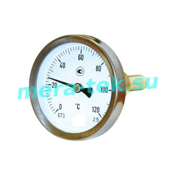 ОСЕВОЙ термометр биметаллический штуцер сзади