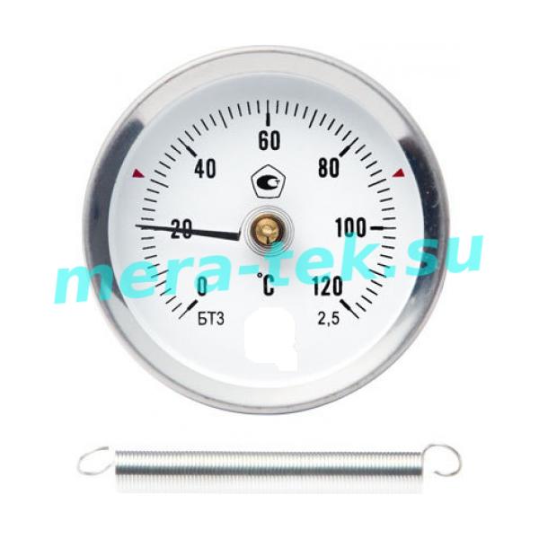 Термометр биметаллический на пружине трубный