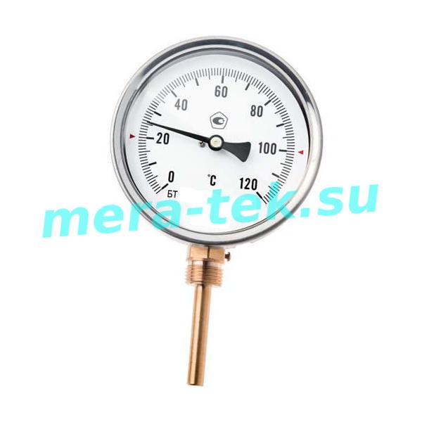 РАДИАЛЬНЫЙ термометр биметаллический штуцер сзади