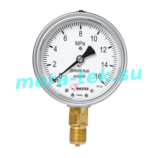 Манометр виброустойчивый ДМ8008-ВУф 600 кПа кл.1,0 М20х1,5