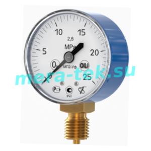 МП2-Уф (0...6) МПа О2 кл.1,5 Манометр кислородный, корпус Ф60мм, IP40, радиальный штуцер М12х1,5