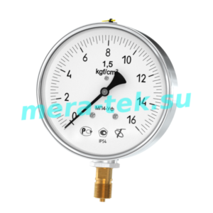 МП4-Уф (0...60) МПа кл.1,0 БН Манометр, IP54, корпус нержавеющая сталь Ф150мм, байонетное кольцо, радиальный штуцер М20х1,5